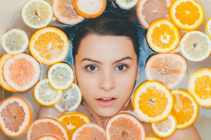 4.Voeg wat fruit toe aan je badwater