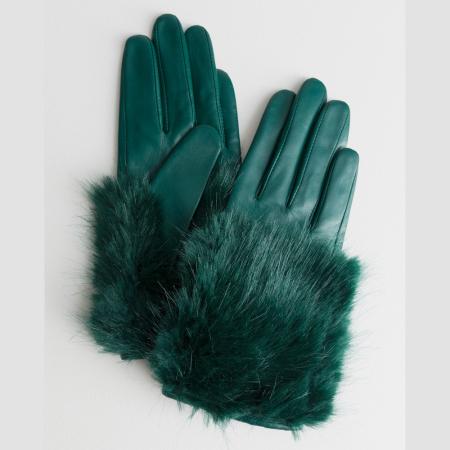 Handschoenen met faux fur