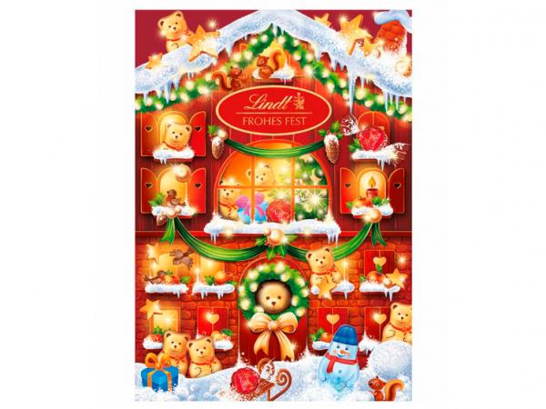 Adventskalender met Lindtchocolade