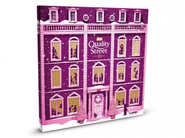 Adventskalender met Quality Street-bonbons