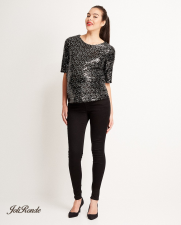 Zwarte blouse met pailletten