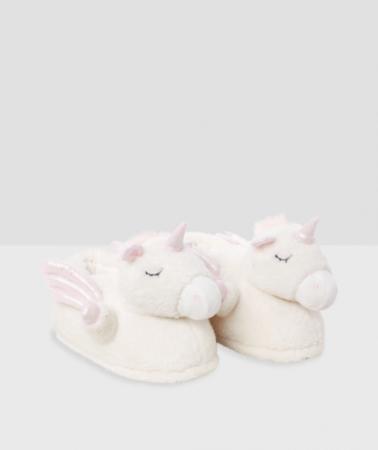Witte pantoffels eenhoorn