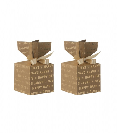 Boîtes forme bonbon en carton