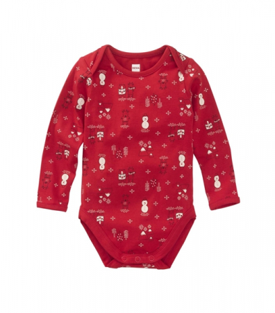Body en coton biologique imprimé Noël