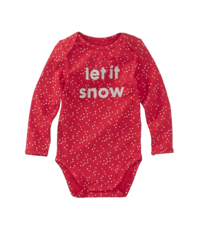 Body en coton bio 'let it snow'