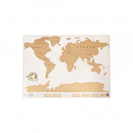 Wereldkaart om af te krabben