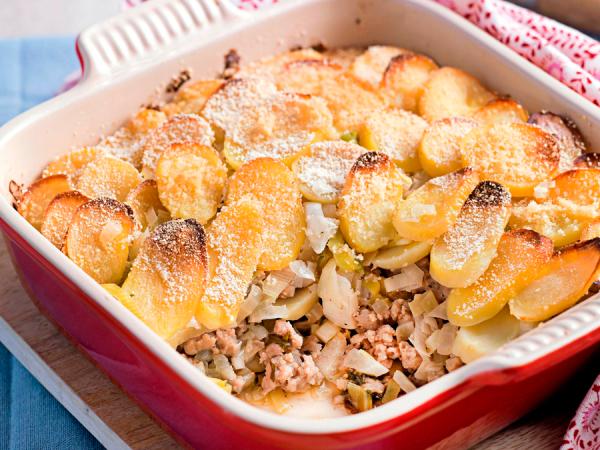 Woensdag: ovenschotel met gehakt, aardappelen en prei