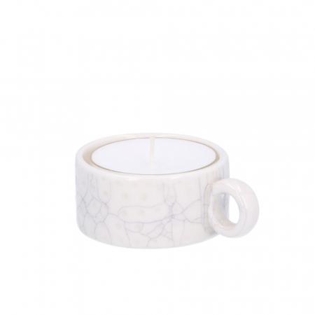 Bougeoir en porcelaine craquelée