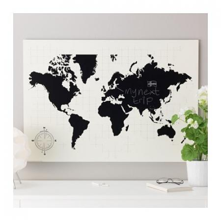 Wereldkaart én krijtbord