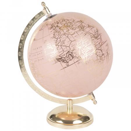 Roze wereldbol met gouden details