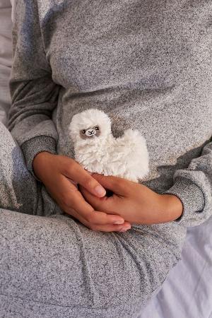 Handverwarmer in de vorm van een alpaca