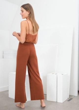 Roestkleurige broek in kasjmier