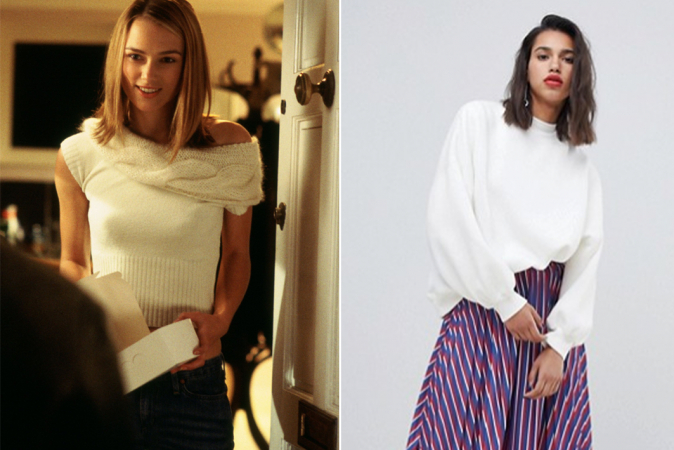 Witte trui zoals Julie in 'Love Actually'