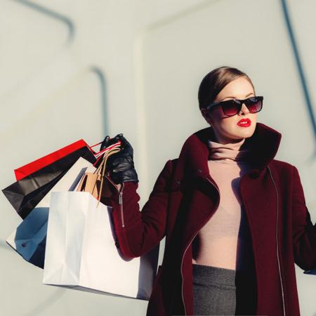 Shoppen in een grote stad