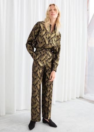 Metallic pyjama in jacquard
