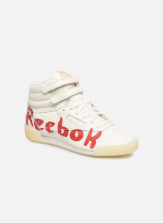 Reebok Classic x The Animals Observatory Freestyle Hi Kid Red logo
