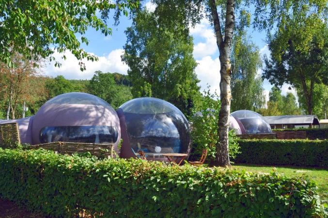 Le camping du Val d'Aine: Sheddies, sphairs & roulottes – Erezée