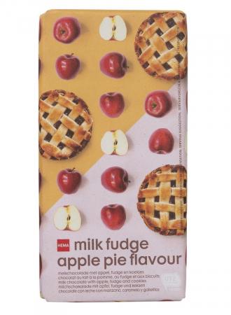 Milk fudge apple pie flavour