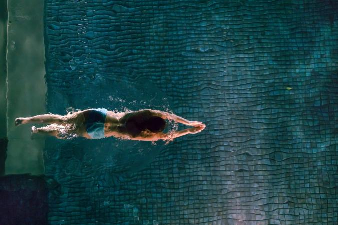 Amandine: nager sous l'eau