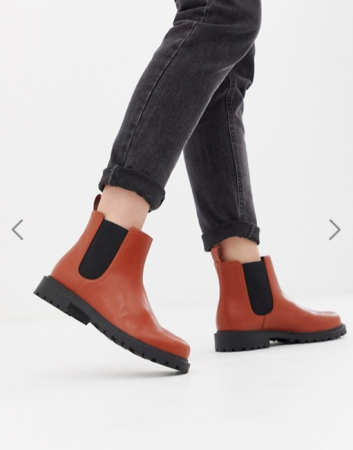 Cognackleurige Chelsea boots