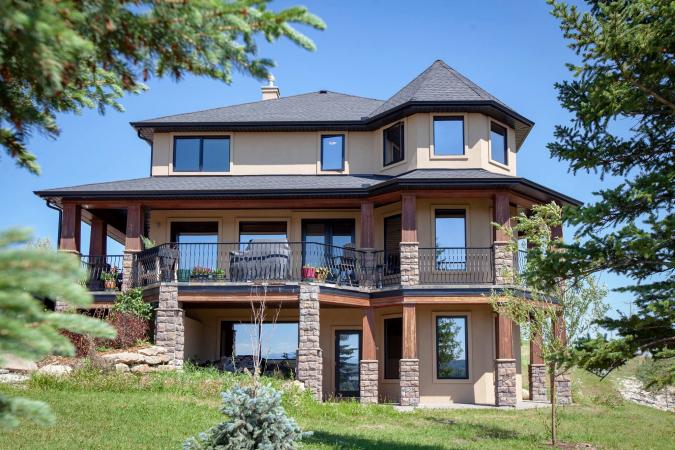 De imposante villa.