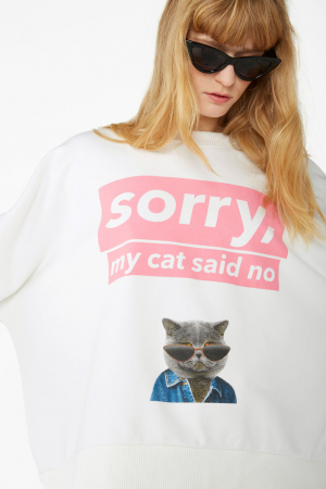 Sweater 'Sorry, my cat said no'