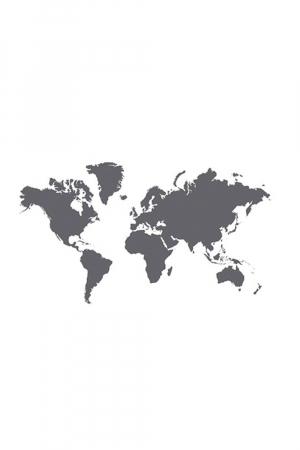 Sticker wereldkaart