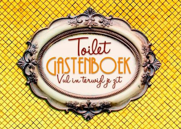 'Toilet Gastenboek, vul in terwijl je zit'