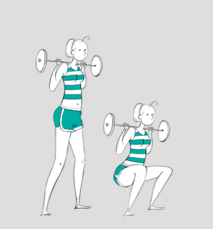 (Weighted) sumo-squat