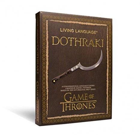 Un livre pour apprendre la langue des Dothraki