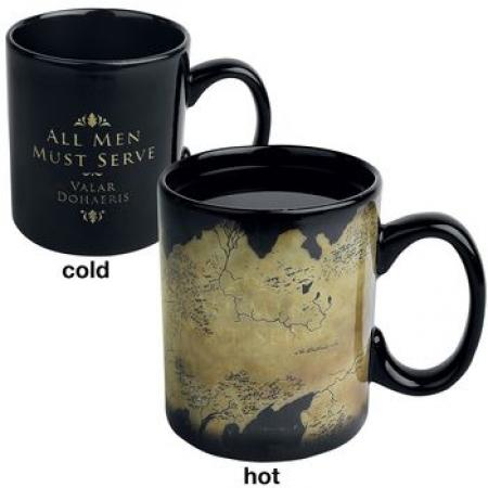 Une tasse qui révèle la carte de Westeros une fois chaude