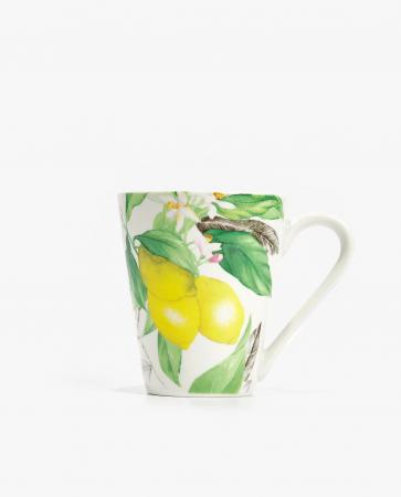Porseleinen mok met citroenen
