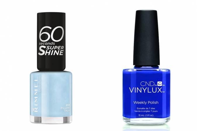 Babyblauw + kobaltblauw