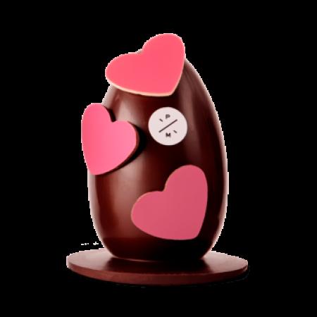 Puur chocolade-ei, gevuld met 13 paaseitjes