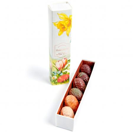 Paasdoosje met 6 chocolade-eitjes