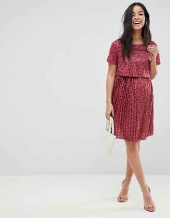 Roze jurk met stippen