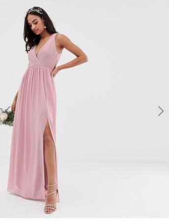Maxi-jurk met V-hals en rugdecolleté
