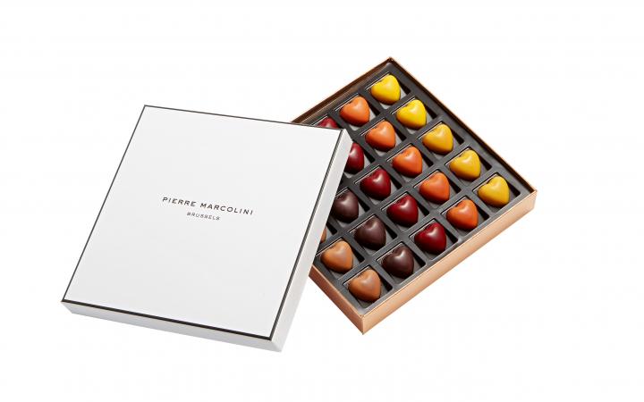Hartvormige chocolaatjes