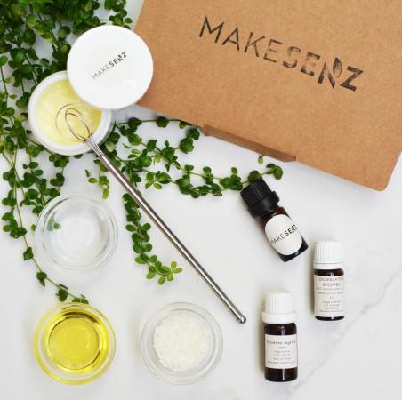 Un kit de fabrication de cosmétiques
