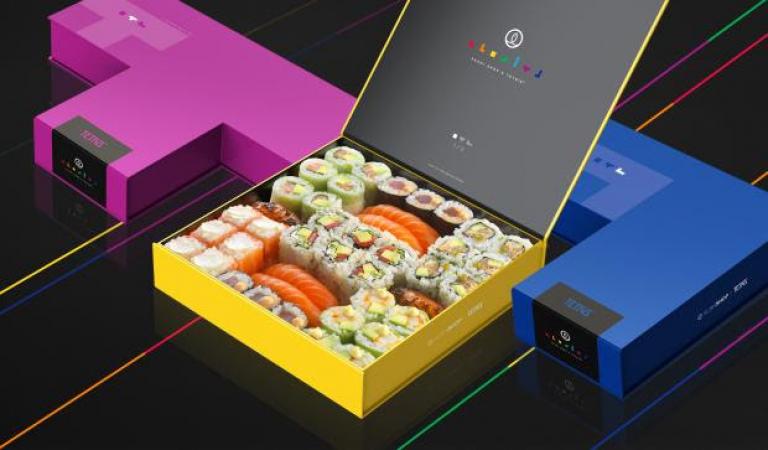 Une box de sushi TETRIS