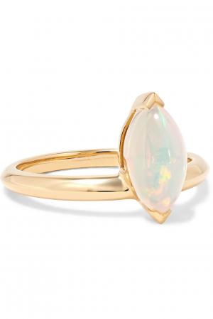 Gouden ring van 18 karaat met opaal