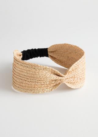 Geweven haarband uit stro