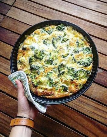 5. Broccoli-zalmquiche zonder bladerdeeg