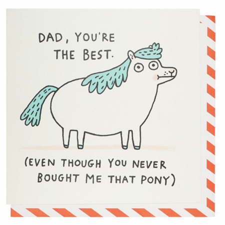 Never bought me that pony