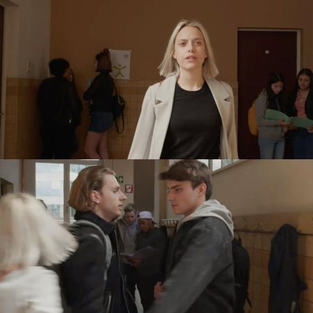 6. Wanneer Viktor eindelijk antwoordt op Zoë's bericht en zij meteen naar Senne toe rent om hem in haar armen te nemen