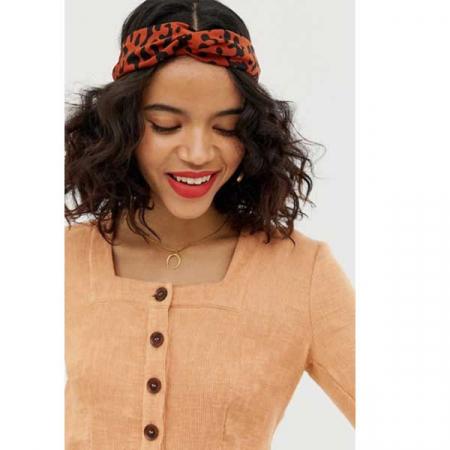 Haarband met luipaardprint