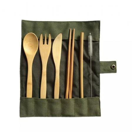 Bestekset uit bamboe