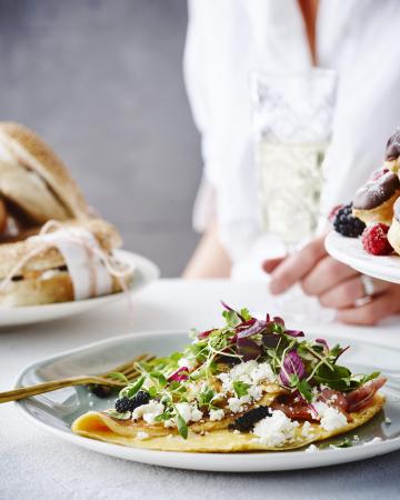 Omeletje met spek en truffel