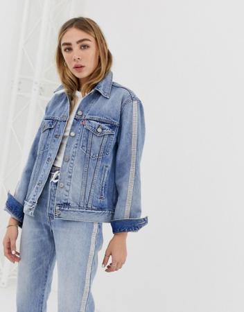 Oversized jeansvest