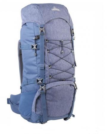 Blauwe trekkingrugzak (65 liter)